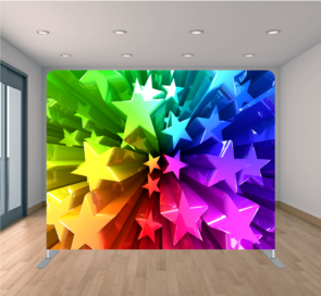 rainbow stars backdrop